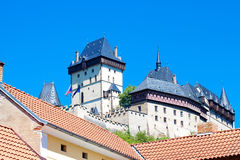 Czech Castle Karlstejn Stock Images