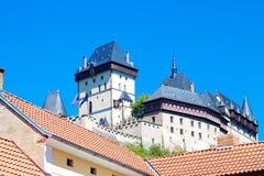 Czech Castle Karlstejn Stock Images