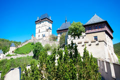 Czech Castle Karlstejn Royalty Free Stock Photos