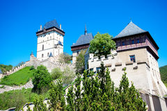 Czech Castle Karlstejn Royalty Free Stock Photography