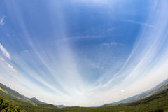 Czech Central Mountains - fish eye lens view Royalty Free Stock Image