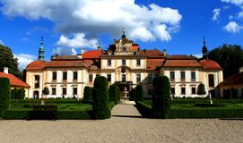 Czech Chateau Jemniste Stock Photo