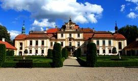 Czech Chateau Jemniste. Court of beautiful czech castle Jemniště, Czech Republic, Europe Stock Photo