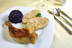 Czech chicken with Carlsbad Royalty Free Stock Photo