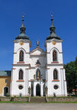Czech church. Church in baroque-gothic style in Zeliv, Czech Republic stock photos