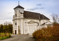 Czech church of saint Petr from Alkantara Royalty Free Stock Image