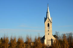 Czech church tower Royalty Free Stock Photography
