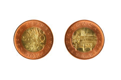 Czech Coin Royalty Free Stock Photography