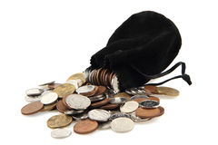 Czech coins isolated Stock Images