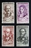 Czech composers on stamps Stock Photos