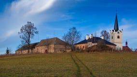 Czech country village Stock Photos