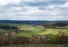 Czech countryside villages Royalty Free Stock Images