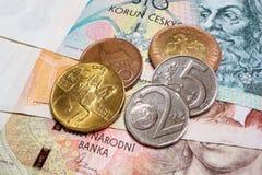 Czech Crown Macro Stock Images