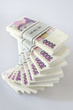 Czech crown money - banknotes in a pile Stock Photography