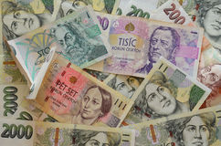 Czech Crowns Currency. Banknotes of the Czech Republic (European Union Royalty Free Stock Image