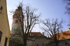 Czech Crumlaw. Český Krumlov translated sometimes to Czech Crumlaw, is a small city in the South Bohemian Region of the Czech Republic stock photography