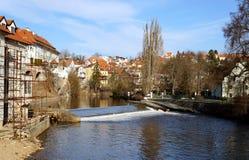 Czech Crumlaw. Český Krumlov translated sometimes to Czech Crumlaw, is a small city in the South Bohemian Region of the Czech Republic stock photo