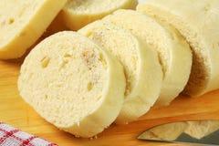 Czech cuisine - Raised bread dumplings Stock Photo