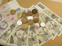 Czech currency Royalty Free Stock Photos