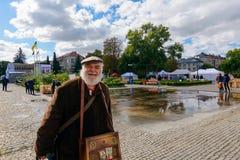 Czech days in TransCarpathia festival. Uzhgorod, Ukraine - SEP 29, 2018: Czech days in TransCarpathia festival. people enjoy celebration of 100 year of stock images