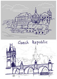 Czech drawing Royalty Free Stock Photo