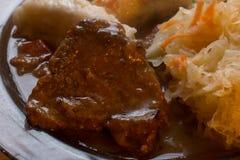 Czech dumplings dinner Stock Images