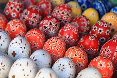 Czech easter eggs background Royalty Free Stock Photo