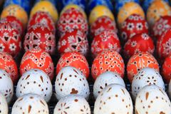 Czech easter eggs background Royalty Free Stock Photography