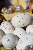 Czech easter eggs background Royalty Free Stock Photos