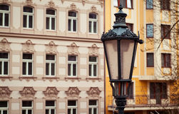 Czech facade Royalty Free Stock Image