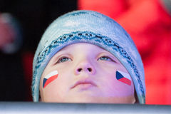 Czech fan Royalty Free Stock Photography