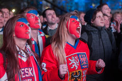 Czech fans Stock Photography