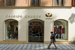 Czech fashion boutique and luxury accessories Fashion Church. Stock Images