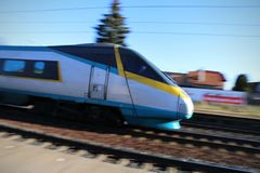 Czech fast Pendolino Royalty Free Stock Photo