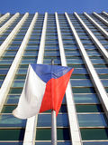 Czech flag. In front of modern building Stock Image