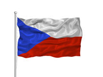 Czech Flag 2 Stock Images