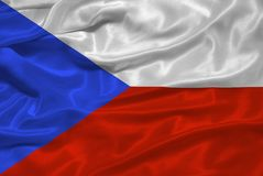 Czech Flag 3 Stock Photo