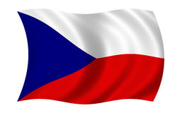 Czech flag stock photo
