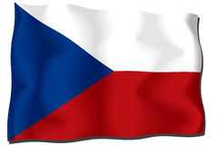 Czech Flag. Icon, isolated on white background Royalty Free Illustration