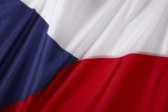 Czech Flag. The national flag of the Czech Republic Royalty Free Stock Photography