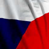 Czech Flag Closeup Stock Photos