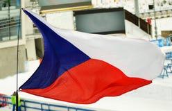 Czech flag. Czech flag fluttering in the wind Royalty Free Stock Photos