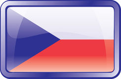 Czech Flag Icon Stock Photos