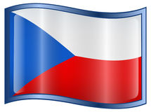Czech Flag icon Royalty Free Stock Images