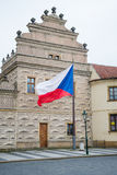 Czech flag in Prague Stock Photography