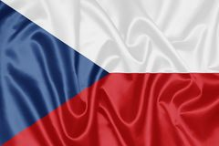 Czech Flag royalty free stock image