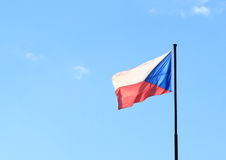 Czech flag Stock Photography