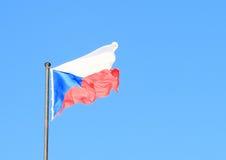Czech flag Stock Photography