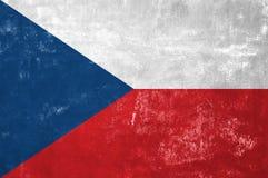 Czech Flag. Czech Republic - Czech Flag on Old Grunge Texture Background stock image