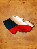 czech flaga mapa Fotografia Stock